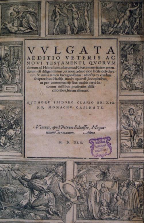 Velmi významný latinský překlad bible zvaný Vulgata.